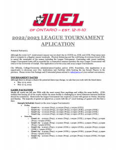 The 2022/2023 League Tournament Host Applications are now available on the Home page!